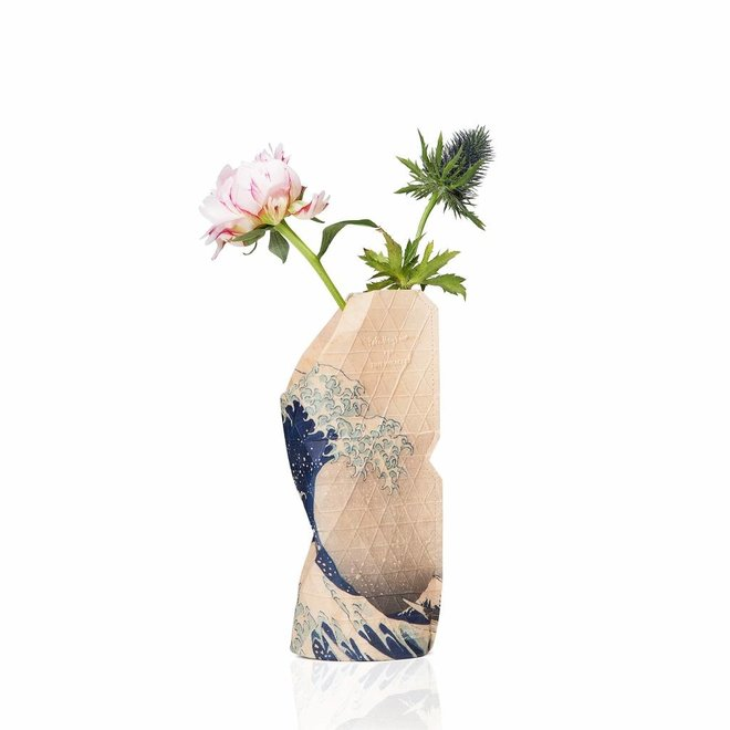 Paper Vase Cover SMALL The Wave