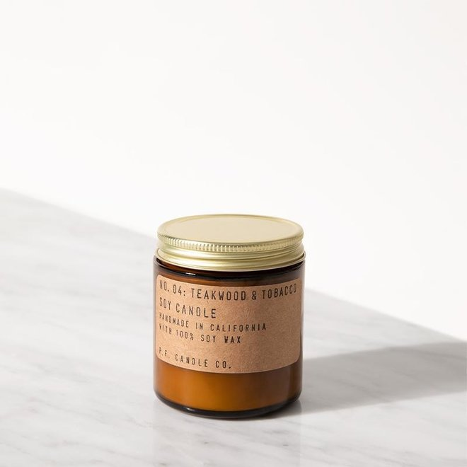 PF Candle - NO. 04 Teakwood & Tobacco small