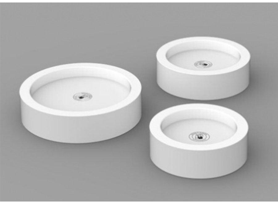 Pilaar kaars onderzetter Ø10cm - wit