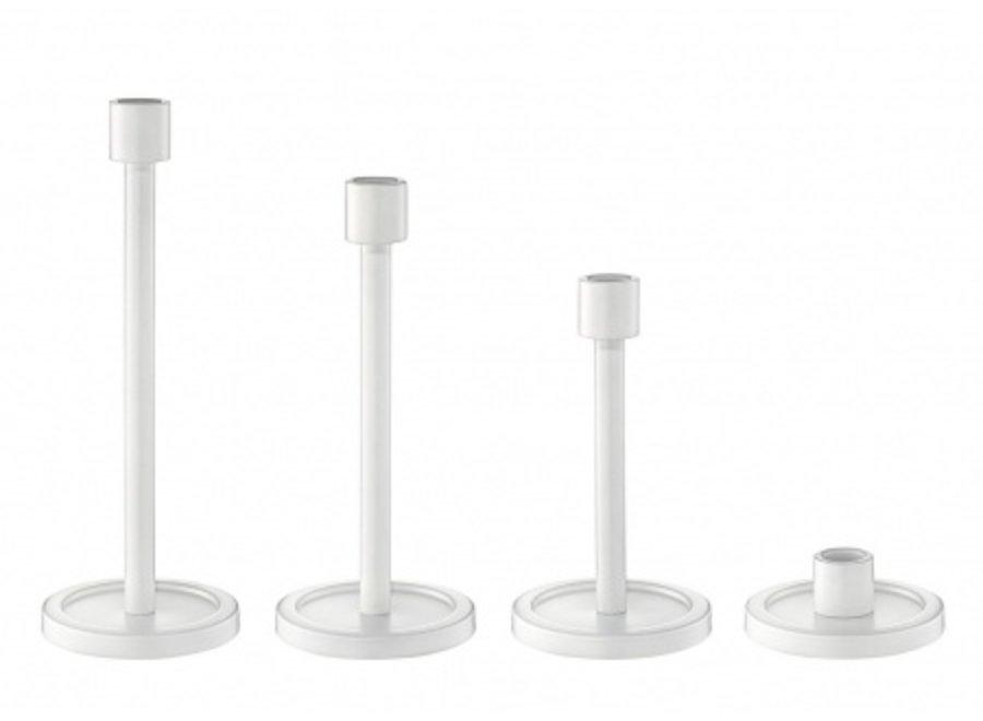 Kandelaar staal H4cm - wit