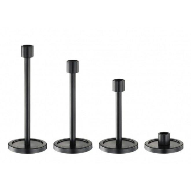 Kandelaar staal H19cm - zwart