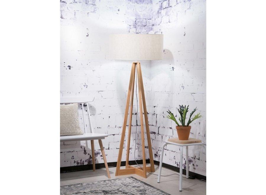 Vloerlamp Everest licht linnen  bamboe