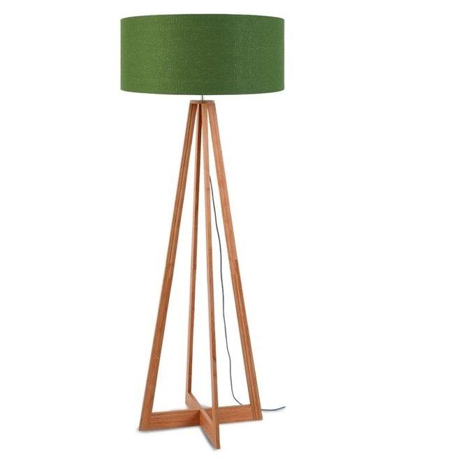 Vloerlamp Everest groen  bamboe
