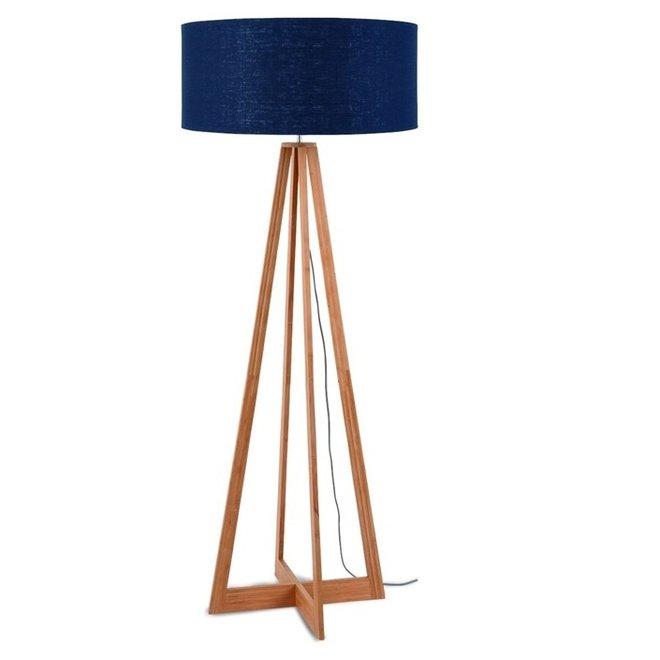 Vloerlamp Everest blauw  bamboe