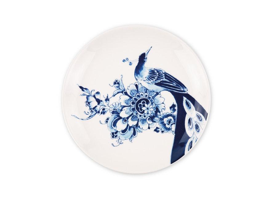 Royal Delft Peacock - Dessertbord coupe