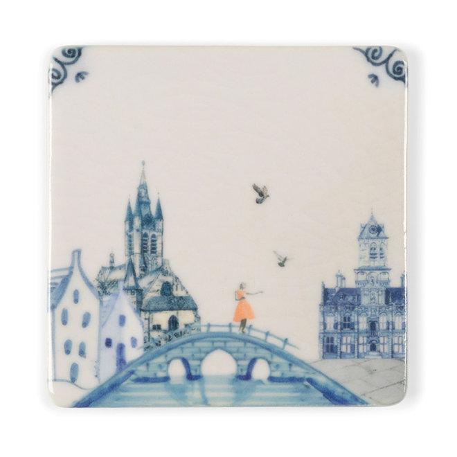 StoryTiles - Delfts blauw - Mini magneet