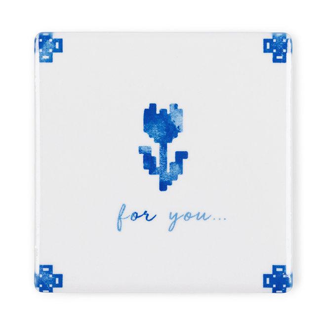 For you - Kaart met tegel