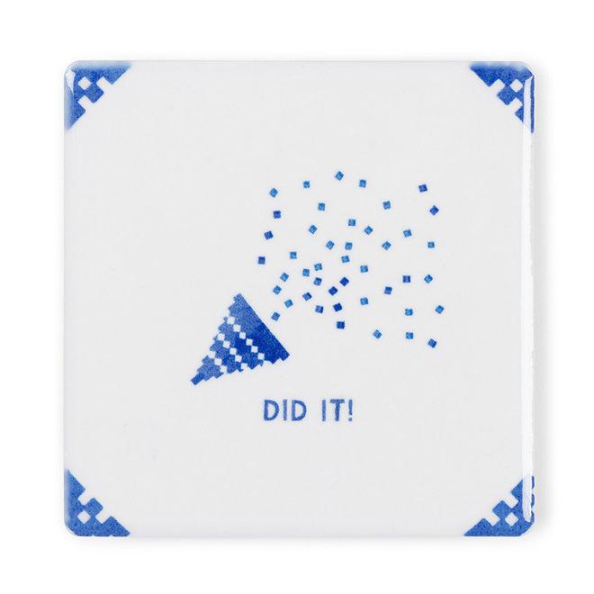Did it! - Kaart met tegel