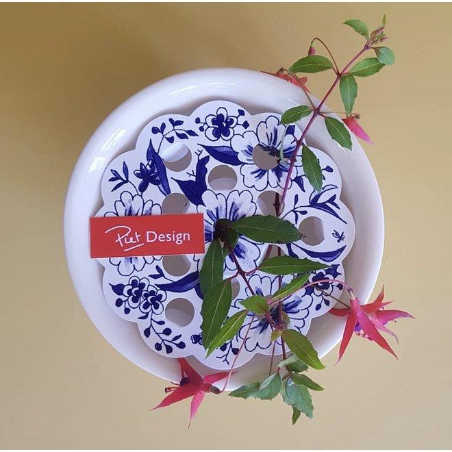 Kaart - Delftsblauwe Bloemenrooster