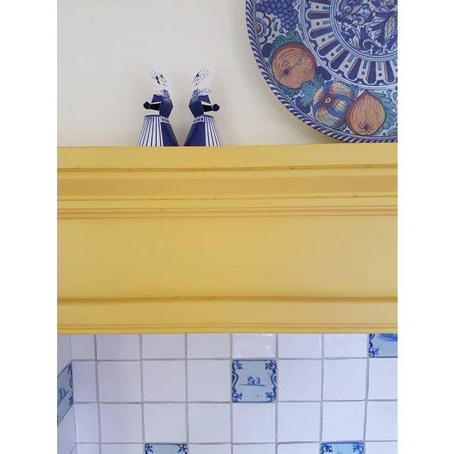 Kaart - Delftsblauwe kussend paar v/v