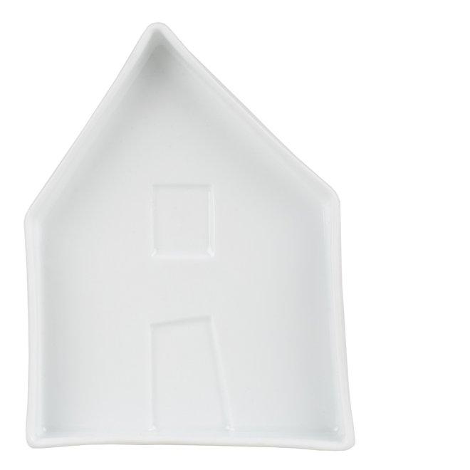 Porseleinen bord Huis