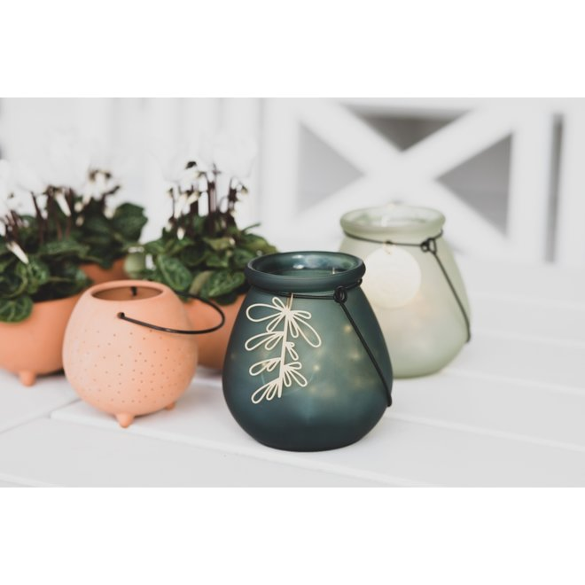 OUTDOOR - waxinelicht terracotta small