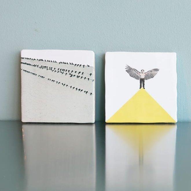 Birds in a row - Small