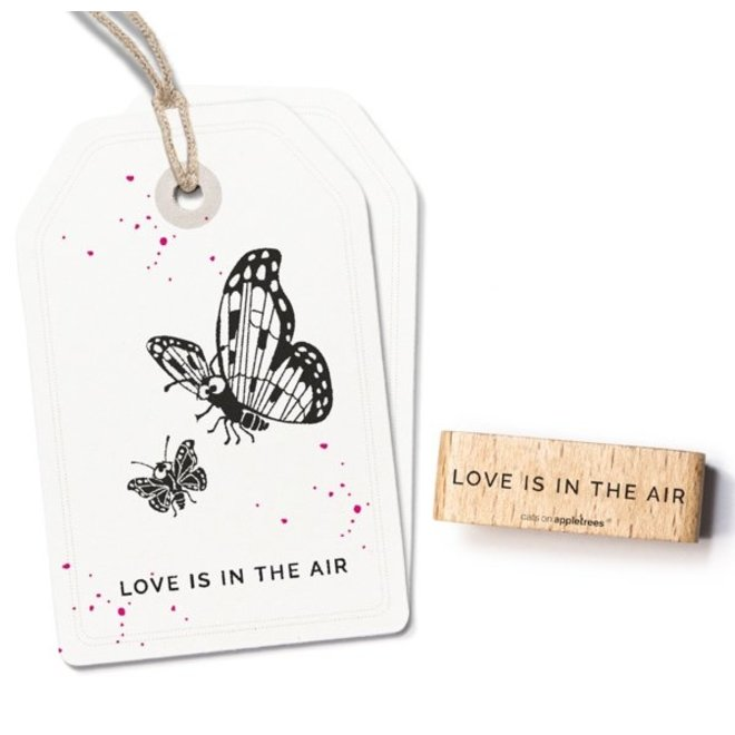 Stempel Tekst Love is in the air 27462