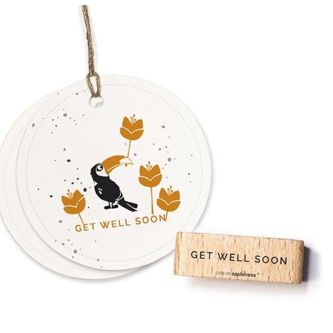Stempel Tekst Get well soon 27463