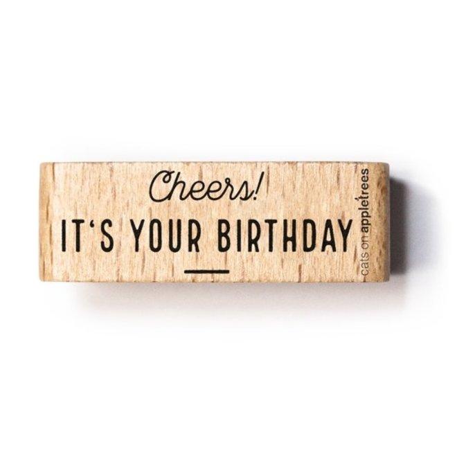 Stempel Tekst Cheers, It's your birthday 27471