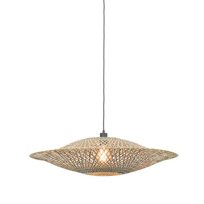 Hanglamp Bali - zwart/ naturel MEDIUM