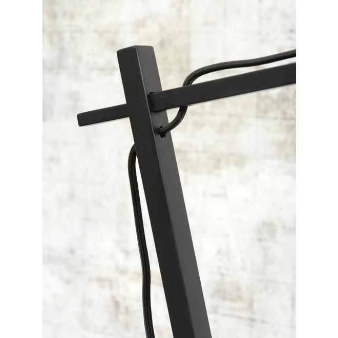 Tafellamp Andes - zwart/ kap linnen