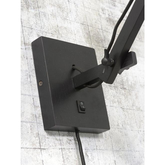 Wandlamp Andes - zwart/ kap zwart SMALL