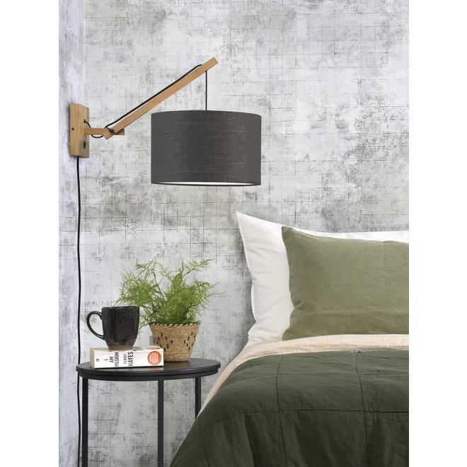 Wandlamp Andes - naturel/ kap donkergrijs SMALL