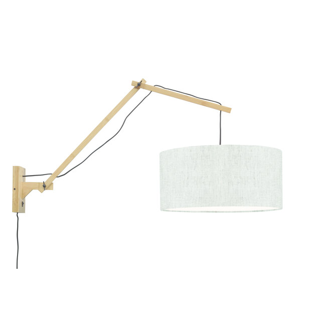 Wandlamp Andes - naturel/ kap licht linnen LARGE