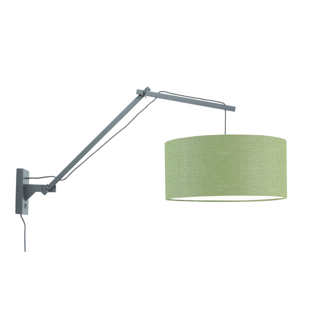 Wandlamp Andes - zwart/ kap green forest LARGE