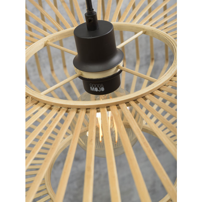 Wandlamp Bromo zwevend zwart/ kap SMALL