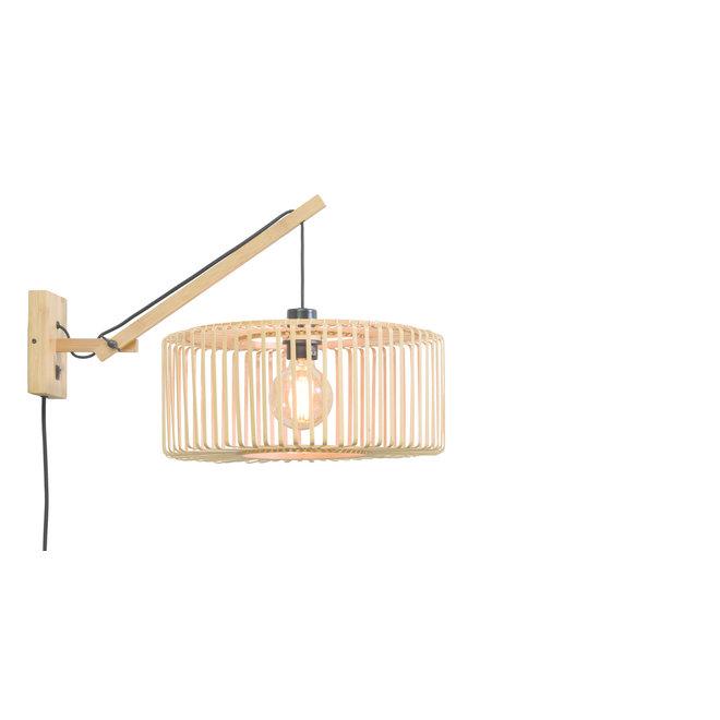 Wandlamp Bromo zwevend naturel/ kap SMALL
