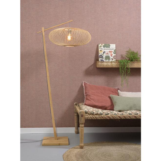 Vloerlamp Cango - naturel/ ellips naturel