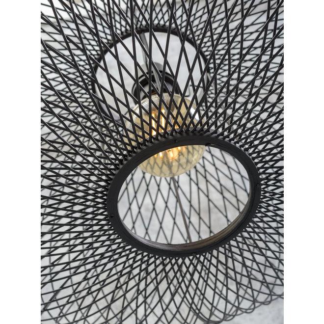 Plafonniere Cango - ellips zwart