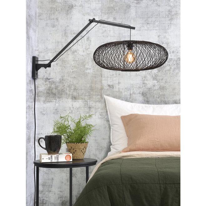 Wandlamp Cango - zwart/ zwevend zwart