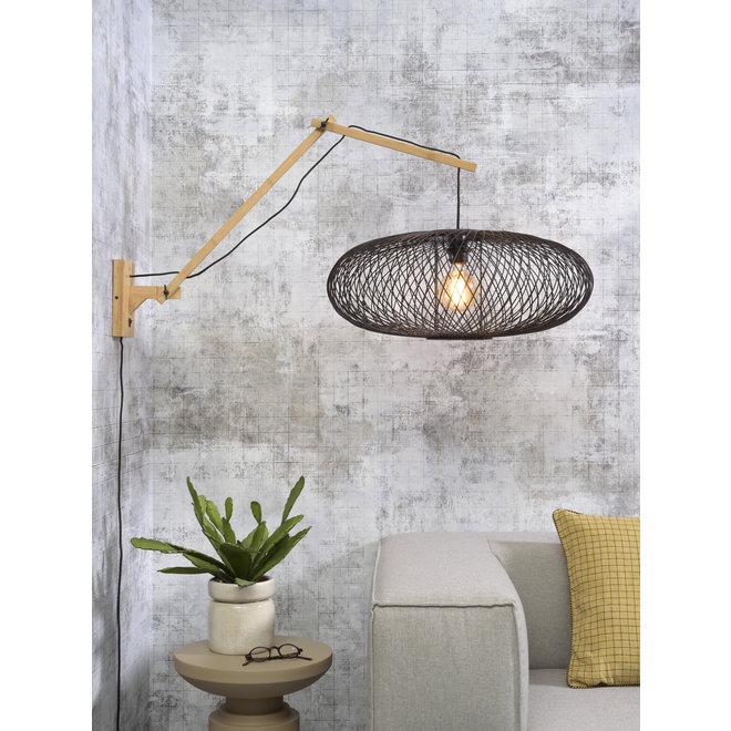 Wandlamp Cango - naturel/ zwevend zwart