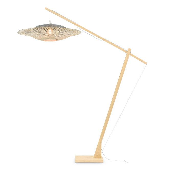 Vloerlamp Kalimantan - XL naturel/ kap naturel-zwart
