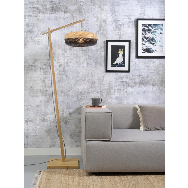 Vloerlamp Palawan - naturel/ naturel-zwart SMALL