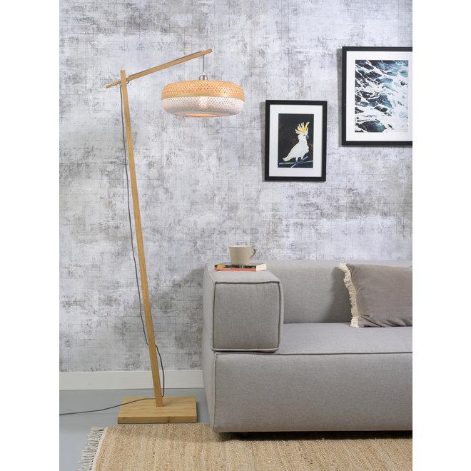 Vloerlamp Palawan - naturel/ naturel/wit SMALL