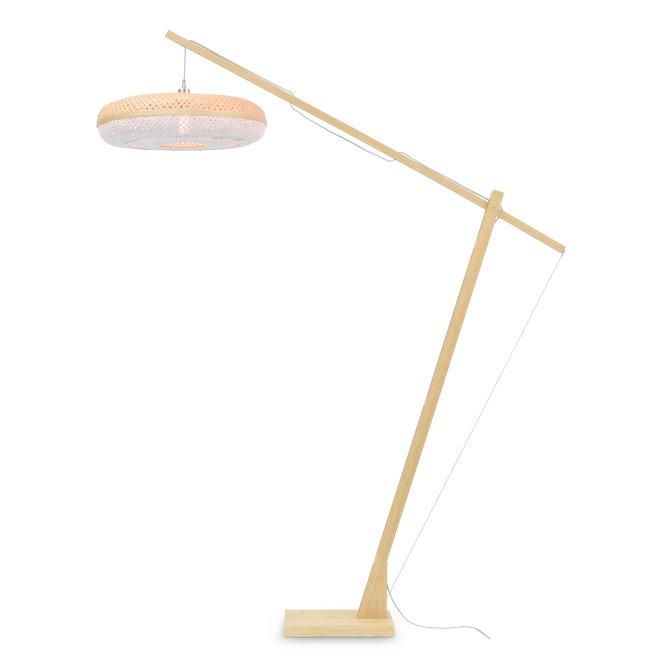 Vloerlamp Palawan - naturel/ naturel/wit LARGE