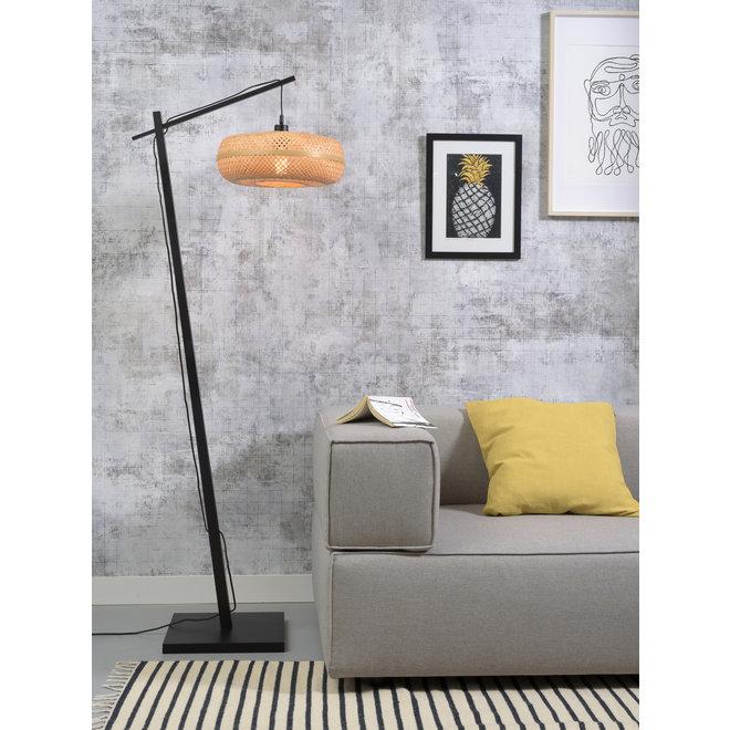 Vloerlamp Palawan - zwart/ naturel SMALL