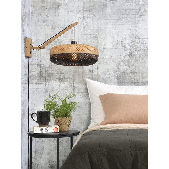 Wandlamp Palawan zwevend - naturel/ naturel-zwart SMALL