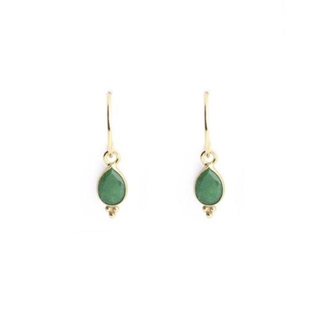 Muja juma - Oorbellen - E-earring drop 3 balls amazonite - Green
