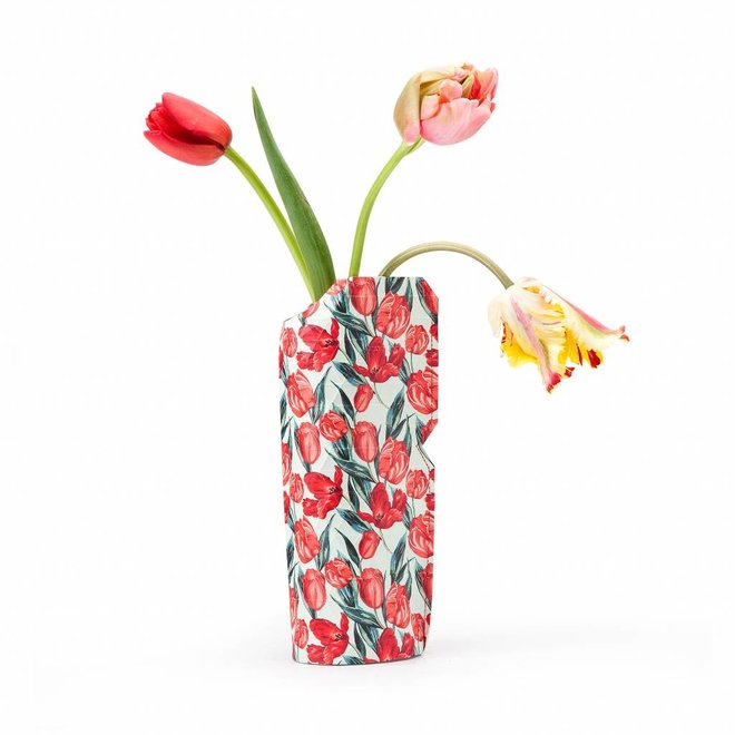 Paper Vase Cover SMALL Tulips