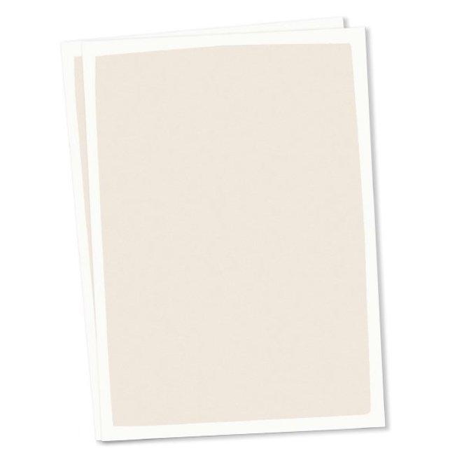 Blanco kaart A6 set van 10 - creme