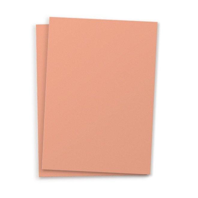 Blanco kaart A6 set van 10 - peach