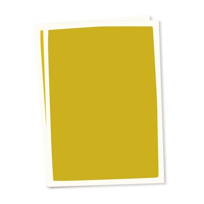 Blanco kaart A6 set van 10 - oker