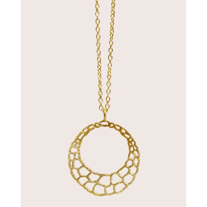 ketting - 60cm beehive gold plated