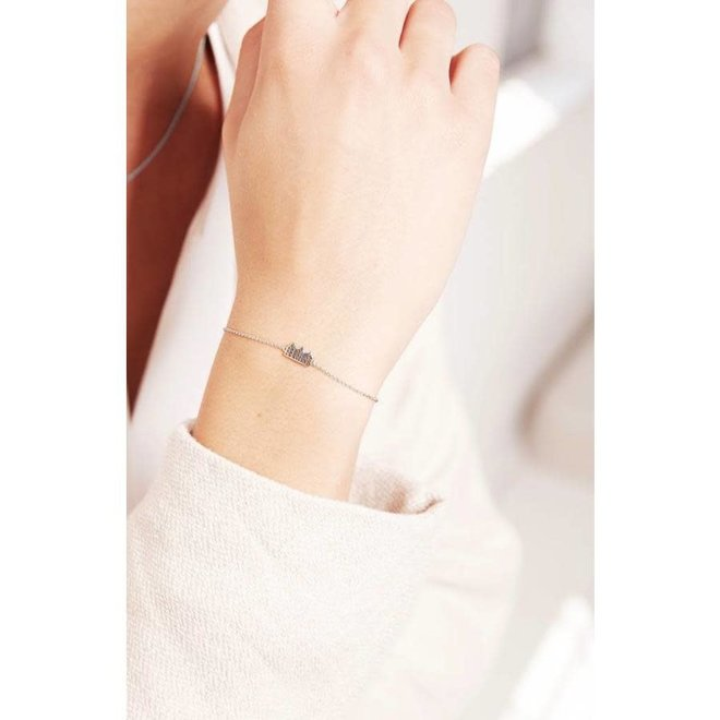 Armband - Canal houses - Zilver