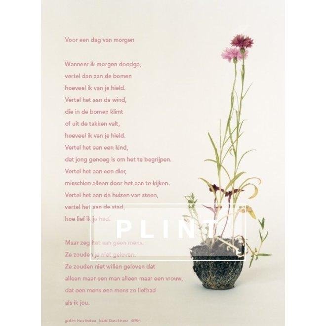 Poster met gedicht - Voor een dag van morgen..