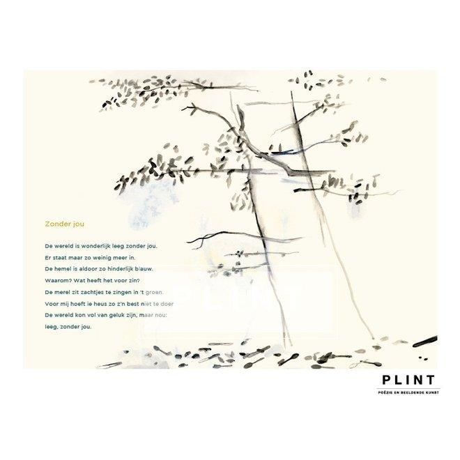 Poezie poster - Zonder jou - A4