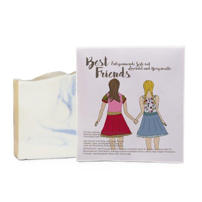 Cadeauzakje met  - Best Friends zeepje
