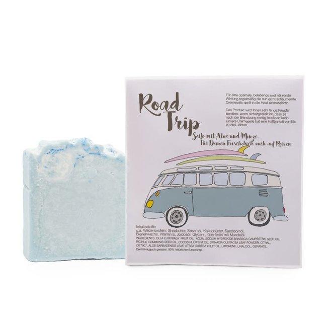 Cadeauzakje met  - Road Trip zeepje