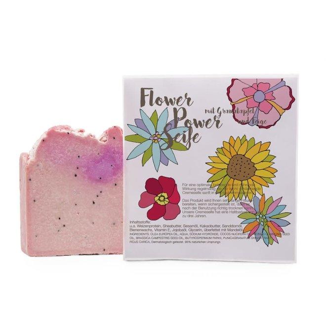 Cadeauzakje met  - Flower Power zeepje